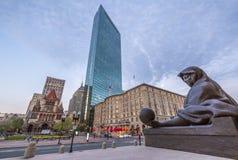 波士顿地区街市财务马萨诸塞美国 免版税库存图片