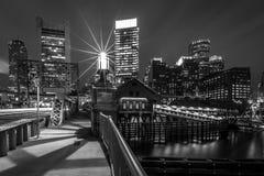 波士顿地区街市财务马萨诸塞美国 库存照片