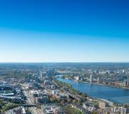 波士顿地平线鸟瞰图  免版税库存照片