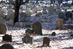 波士顿墓地有历史老 库存图片