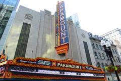 波士顿头等剧院在街市波士顿,美国 免版税库存图片