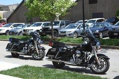 波士顿学院摩托车警察 免版税图库摄影