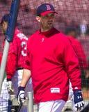 波士顿尼克松・ Red Sox小跑 库存照片