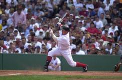 波士顿尼克松・ Red Sox小跑 免版税图库摄影