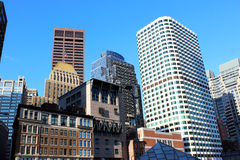 波士顿市地平线 免版税图库摄影