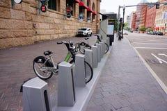 波士顿市自行车 图库摄影