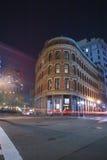 波士顿市街道在晚上 免版税图库摄影