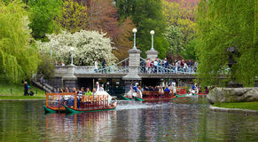 波士顿庭院公共春天 免版税库存图片