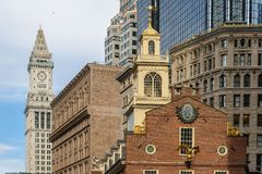 波士顿房子老状态 免版税库存图片