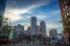波士顿摩天大楼 免版税图库摄影