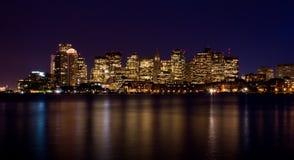 波士顿晚上 图库摄影