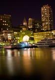 波士顿晚上 免版税库存图片