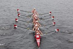 波士顿查尔斯顶头r赛跑大学 免版税库存图片