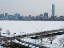 波士顿查理斯河冬天 库存照片