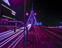 波士顿桥梁lenny zakim 免版税库存图片