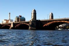 波士顿桥梁longfellow ma 免版税库存图片