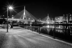 波士顿桥梁zakim 图库摄影