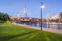 波士顿桥梁zakim 免版税图库摄影
