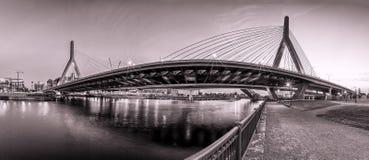 波士顿桥梁zakim 免版税库存图片