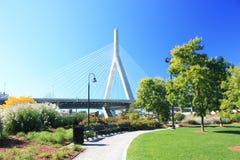 波士顿桥梁zakim 免版税库存照片