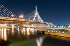 波士顿桥梁zakim 库存照片