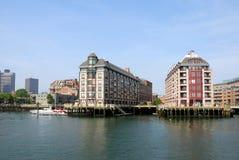 波士顿江边 库存图片