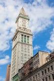 波士顿海关塔,马萨诸塞-美国 免版税图库摄影