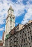 波士顿海关塔,马萨诸塞-美国 图库摄影
