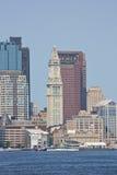 波士顿海关塔 免版税图库摄影