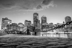 波士顿港口和财政区 免版税库存图片