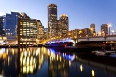 波士顿港口在马萨诸塞 库存照片