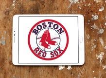 波士顿红袜棒球队商标 图库摄影