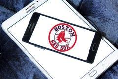 波士顿红袜棒球队商标 库存照片