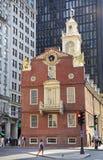 波士顿老状态议院  免版税库存照片