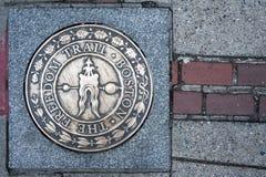 波士顿自由足迹标志,马萨诸塞 图库摄影