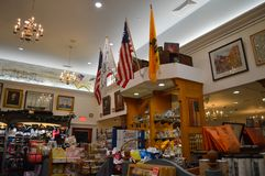 波士顿茶会博物馆在波士顿, 2016年12月11日的美国 免版税库存图片