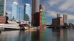 波士顿茶会博物馆,是一个浮动历史博物馆 股票视频