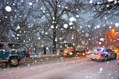 波士顿雪风暴 库存照片
