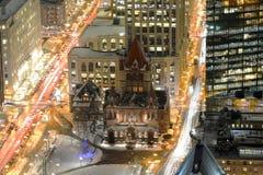 波士顿领港教会在晚上,美国 免版税图库摄影