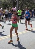 波士顿马拉松2014年跑在种族的复活节兔子 免版税库存照片