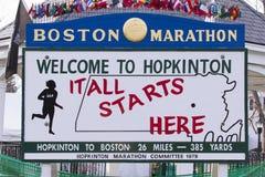 波士顿马拉松2013年轰炸 免版税库存照片