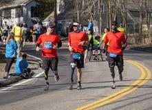 波士顿马拉松2014年 免版税图库摄影