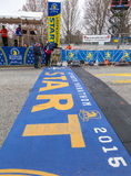 波士顿马拉松2015年 库存照片