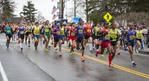波士顿马拉松2015年 免版税库存照片