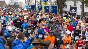 波士顿马拉松2015年 库存图片
