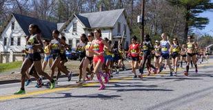 波士顿马拉松2016年 库存图片