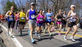波士顿马拉松2016年 库存照片