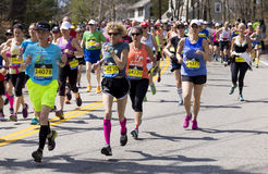 波士顿马拉松2016年 免版税库存照片