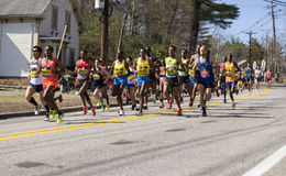 波士顿马拉松 免版税库存图片