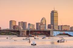 波士顿马萨诸塞地平线看法  免版税库存图片
